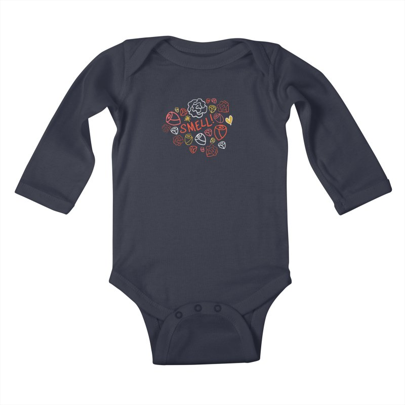 Smell! Kids Baby Longsleeve Bodysuit by Doodles Invigorate's Artist Shop