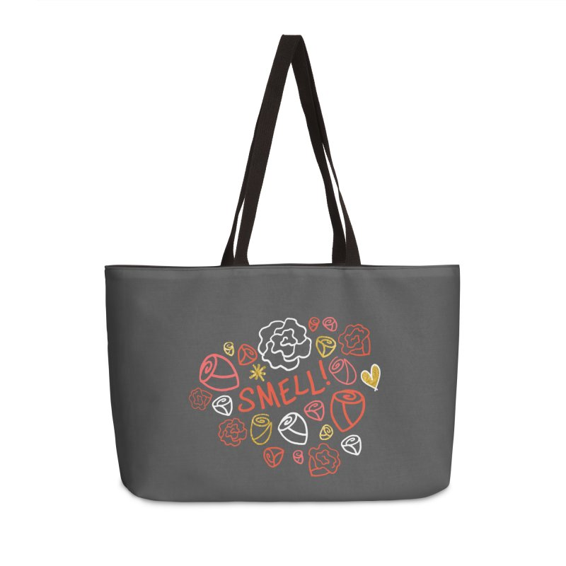 Smell! Accessories Weekender Bag Bag by Doodles Invigorate's Artist Shop