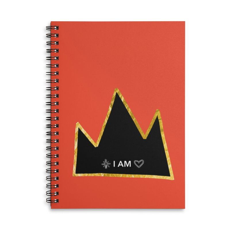 Royalty Accessories Lined Spiral Notebook by Doodles Invigorate's Artist Shop