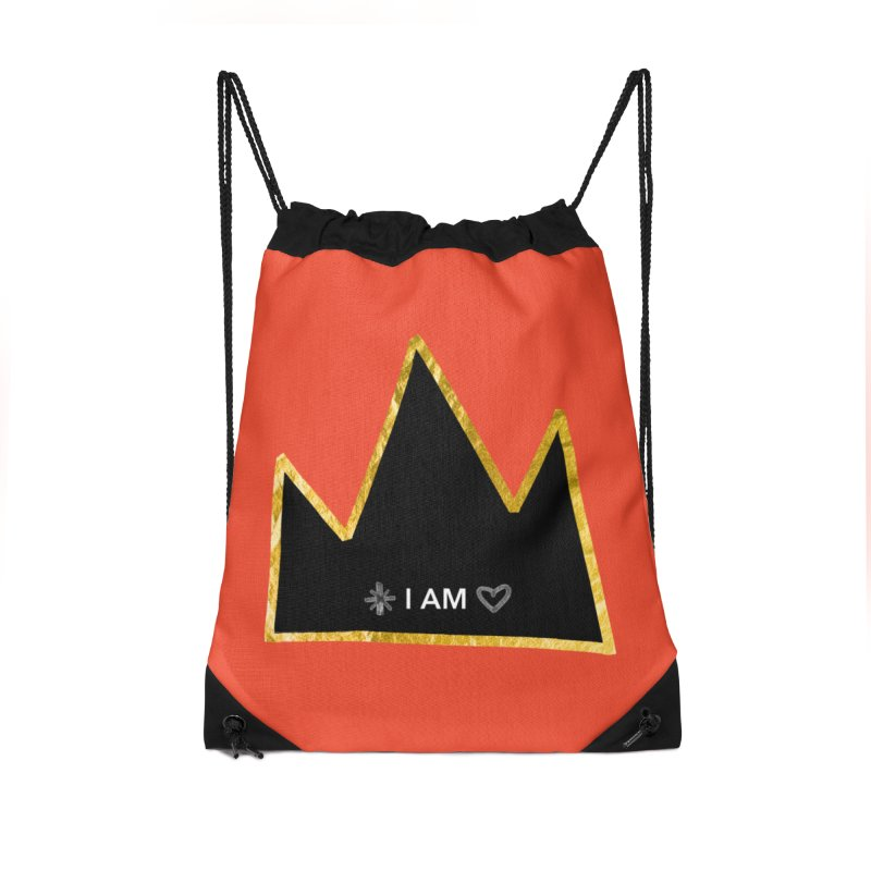 Royalty Accessories Drawstring Bag Bag by Doodles Invigorate's Artist Shop