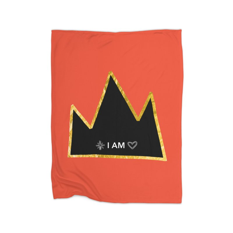 Royalty Home Fleece Blanket Blanket by Doodles Invigorate's Artist Shop