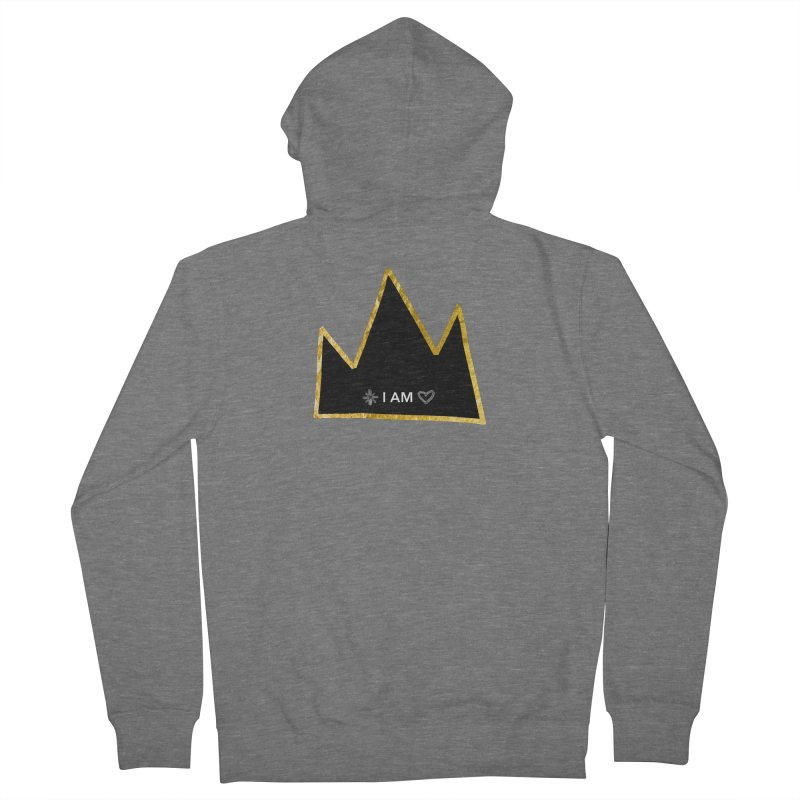 Royalty Men's French Terry Zip-Up Hoody by Doodles Invigorate's Artist Shop