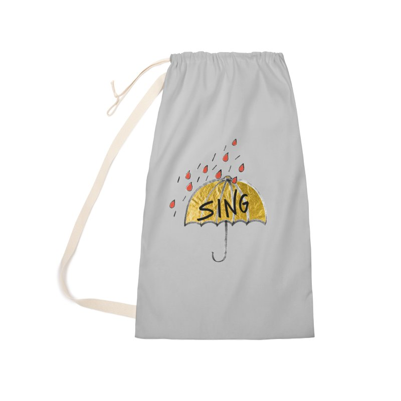 Sing in the Rain Accessories Bag by Doodles Invigorate's Artist Shop