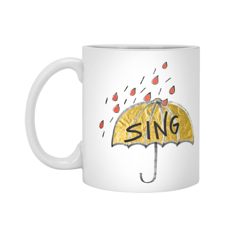 Sing in the Rain Accessories Standard Mug by Doodles Invigorate's Artist Shop
