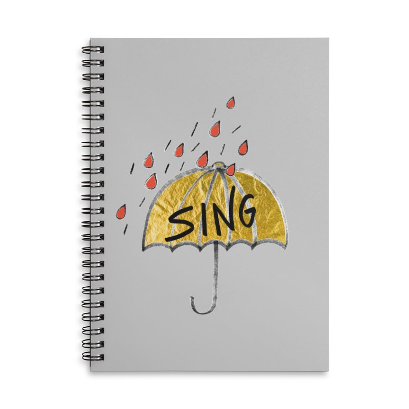 Sing in the Rain Accessories Notebook by Doodles Invigorate's Artist Shop
