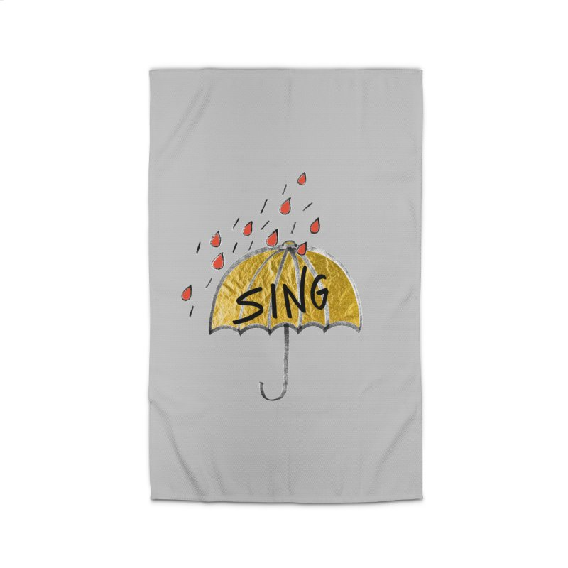 Sing in the Rain Home Rug by Doodles Invigorate's Artist Shop