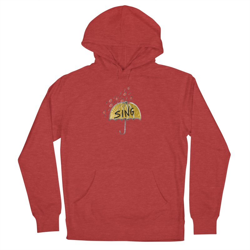 Sing in the Rain Men's Pullover Hoody by Doodles Invigorate's Artist Shop
