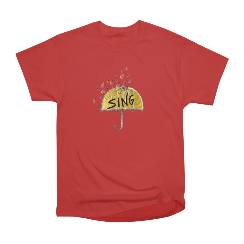 Sing in the Rain Men's T-Shirt by Doodles Invigorate's Artist Shop