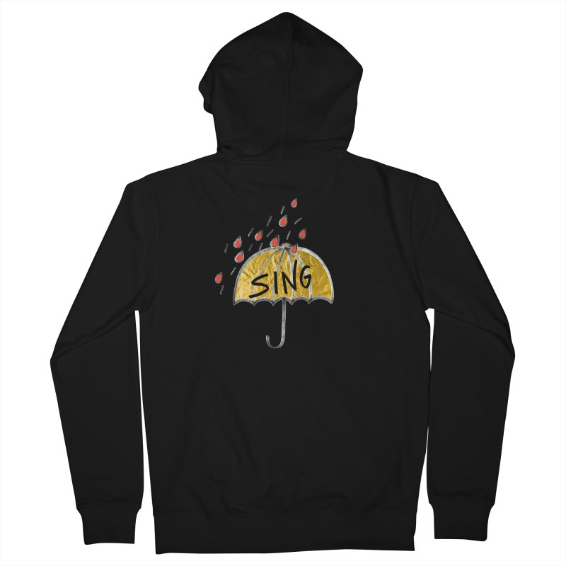 Sing in the Rain Women's French Terry Zip-Up Hoody by Doodles Invigorate's Artist Shop