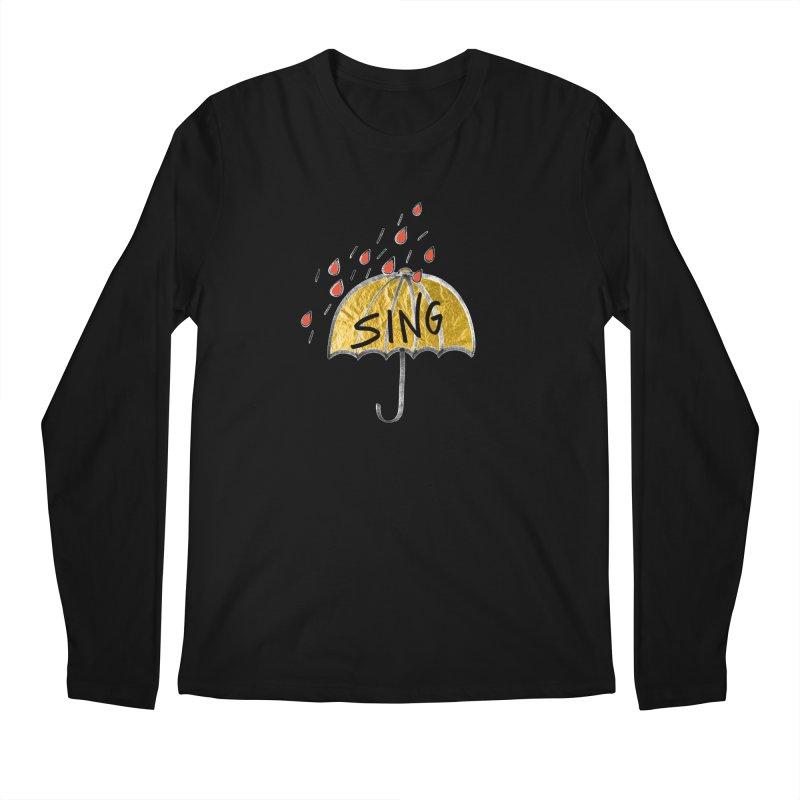 Sing in the Rain Men's Regular Longsleeve T-Shirt by Doodles Invigorate's Artist Shop