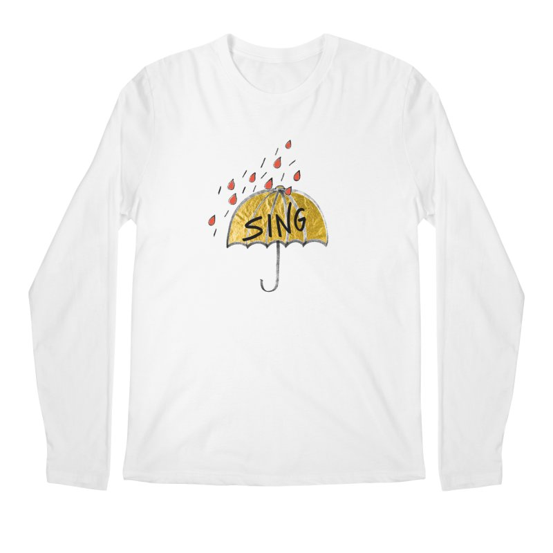 Sing in the Rain Men's Longsleeve T-Shirt by Doodles Invigorate's Artist Shop