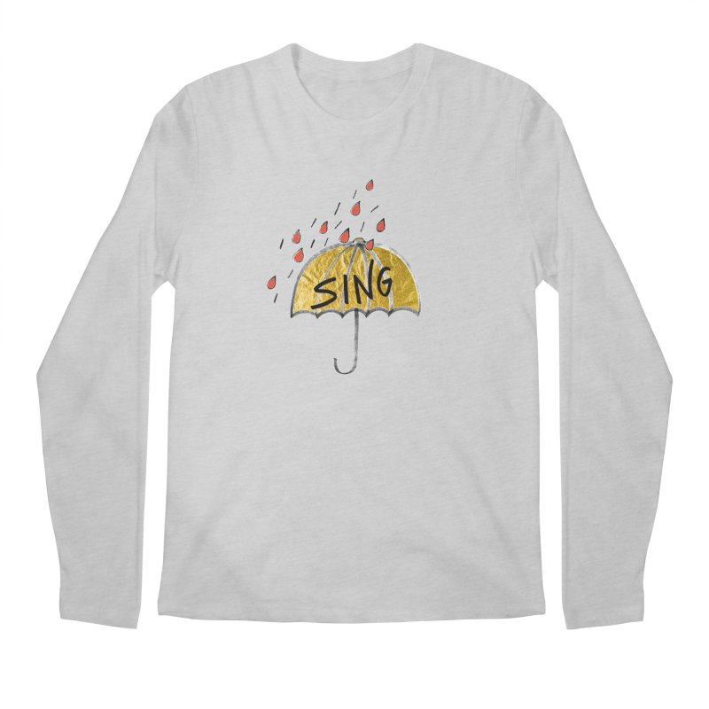 Sing in the Rain Men's Regular Longsleeve T-Shirt by Doodles Invigorate's Artist Shop