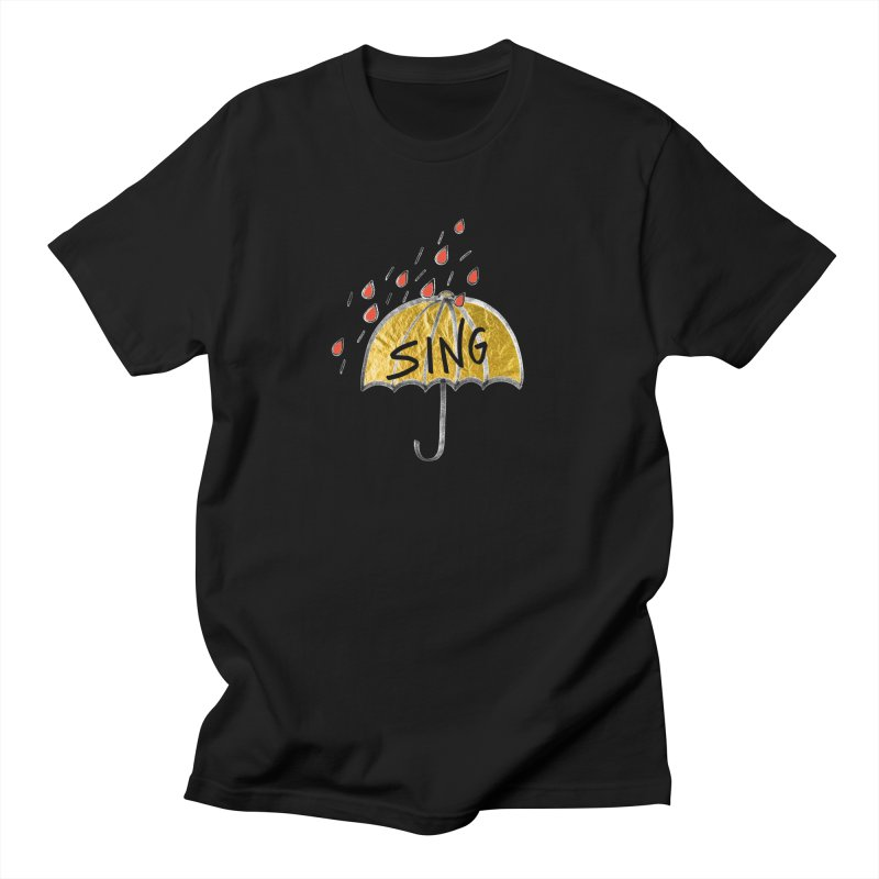 Sing in the Rain Women's Regular Unisex T-Shirt by Doodles Invigorate's Artist Shop