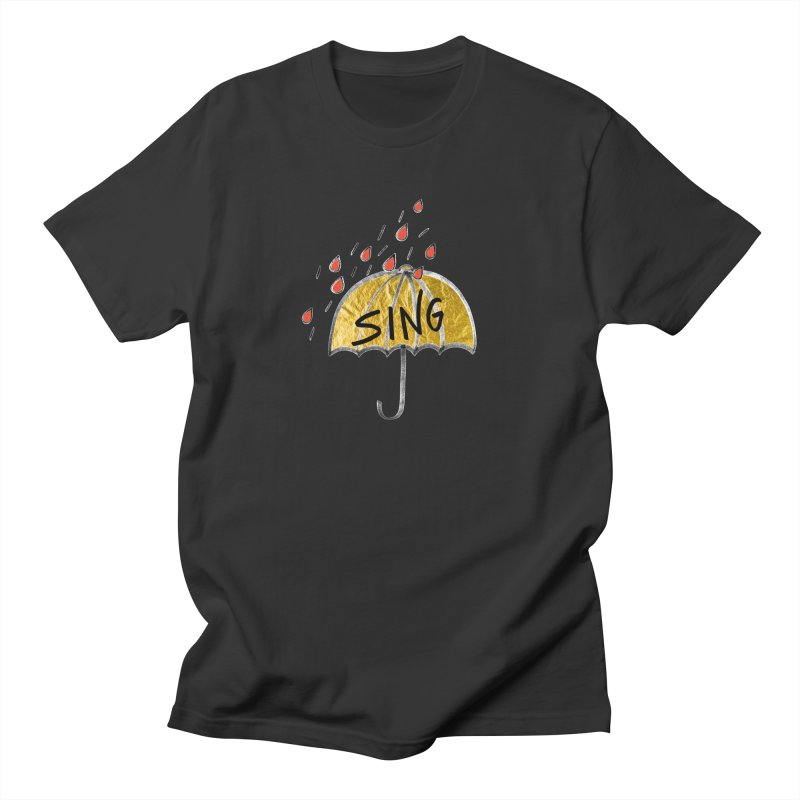 Sing in the Rain Women's Regular Unisex T-Shirt by Doodles Invigorate's Artist Shop