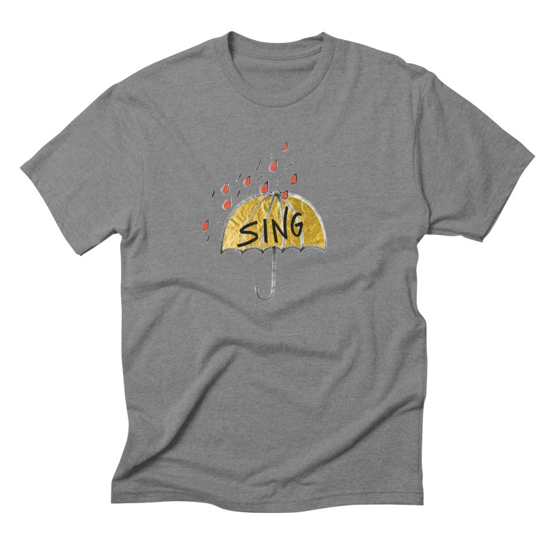 Sing in the Rain Men's Triblend T-Shirt by Doodles Invigorate's Artist Shop