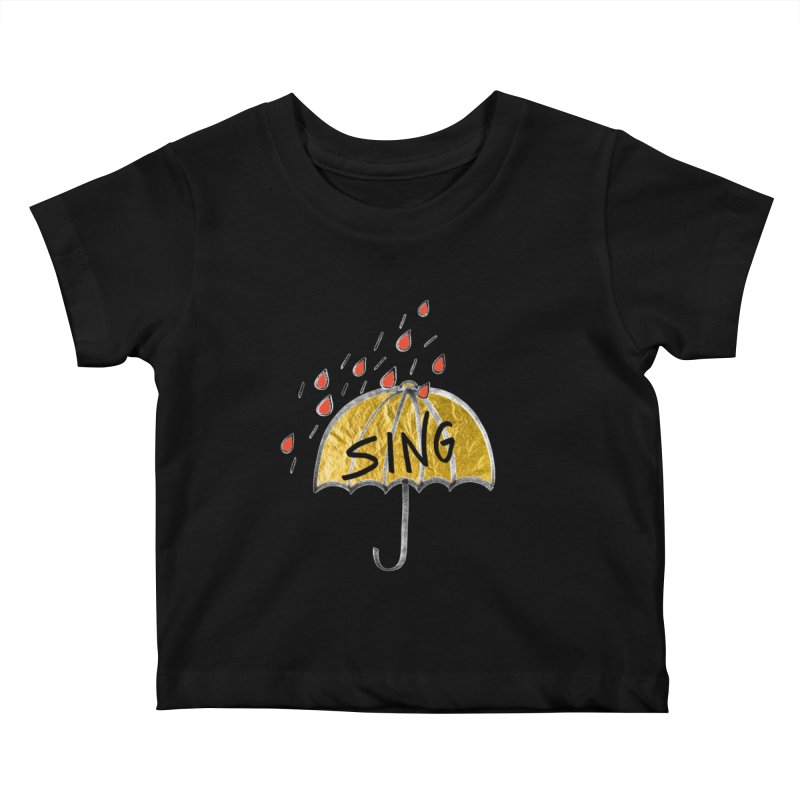 Sing in the Rain Kids Baby T-Shirt by Doodles Invigorate's Artist Shop
