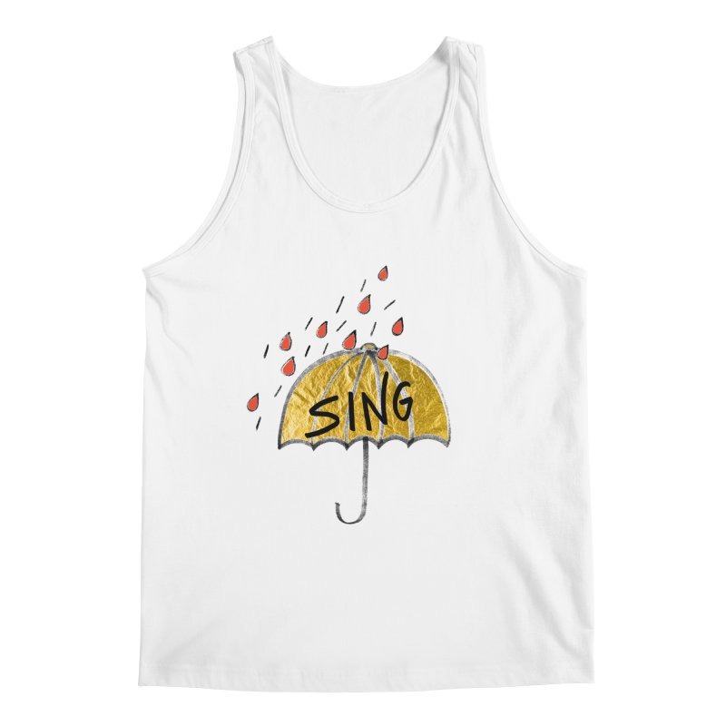 Sing in the Rain Men's Tank by Doodles Invigorate's Artist Shop