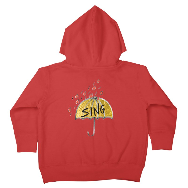 Sing in the Rain Kids Toddler Zip-Up Hoody by Doodles Invigorate's Artist Shop