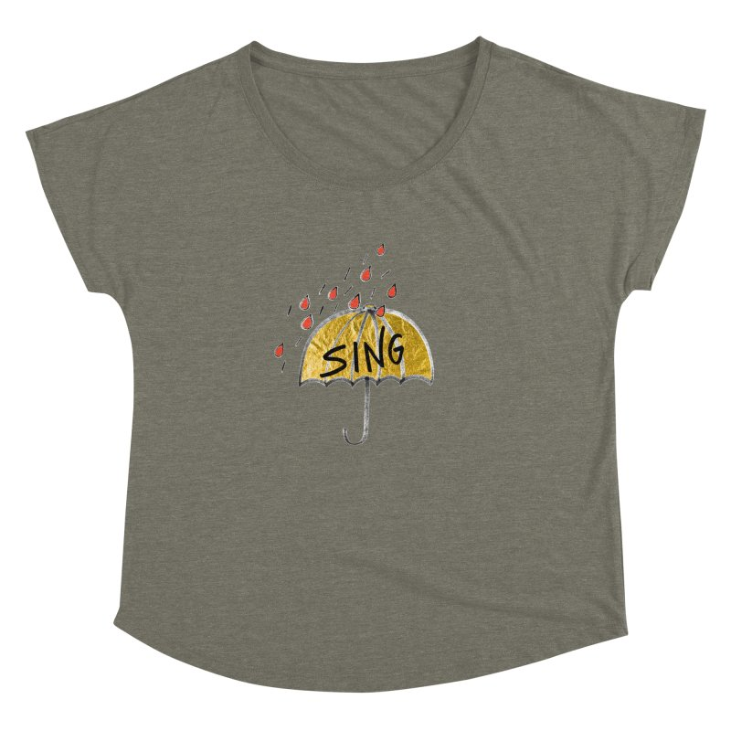 Sing in the Rain Women's Dolman Scoop Neck by Doodles Invigorate's Artist Shop