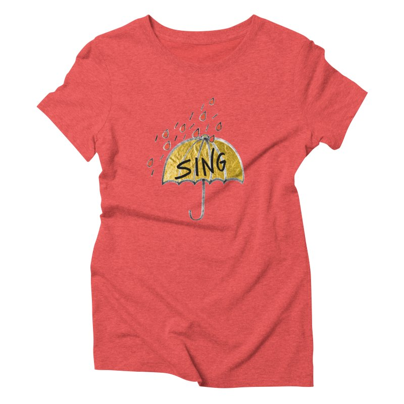 Sing in the Rain Women's Triblend T-Shirt by Doodles Invigorate's Artist Shop