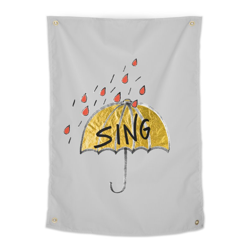 Sing in the Rain Home Tapestry by Doodles Invigorate's Artist Shop