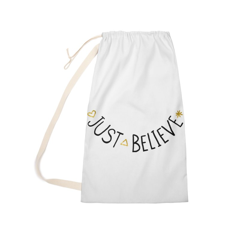 Just Believe Accessories Bag by Doodles Invigorate's Artist Shop