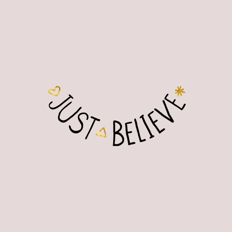 Just Believe Accessories Zip Pouch by Doodles Invigorate's Artist Shop