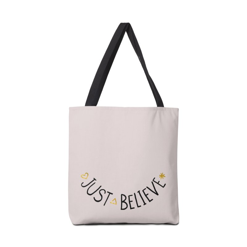 Just Believe Accessories Bag by Doodles Invigorate's Artist Shop
