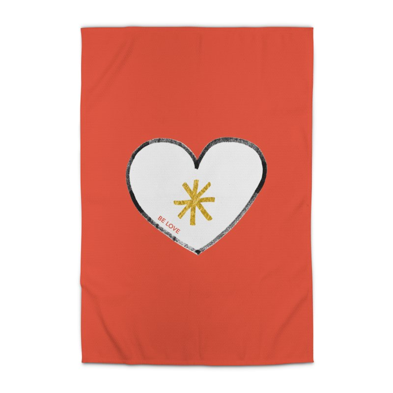 Be Love Home Rug by Doodles Invigorate's Artist Shop