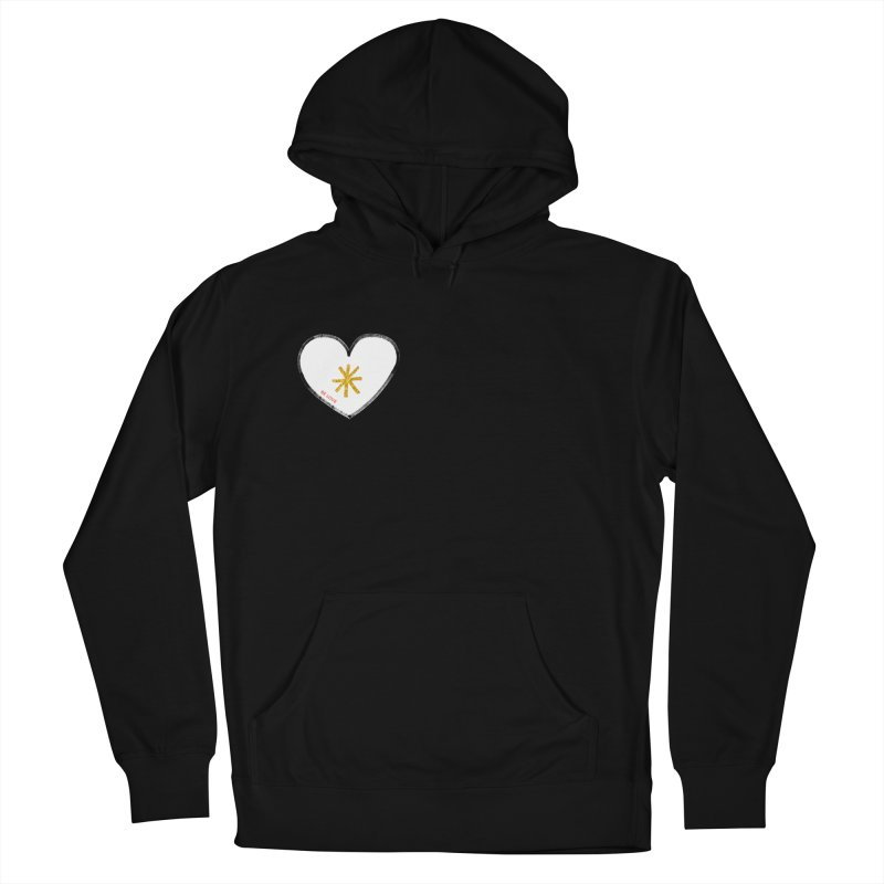 Be Love Men's French Terry Pullover Hoody by Doodles Invigorate's Artist Shop