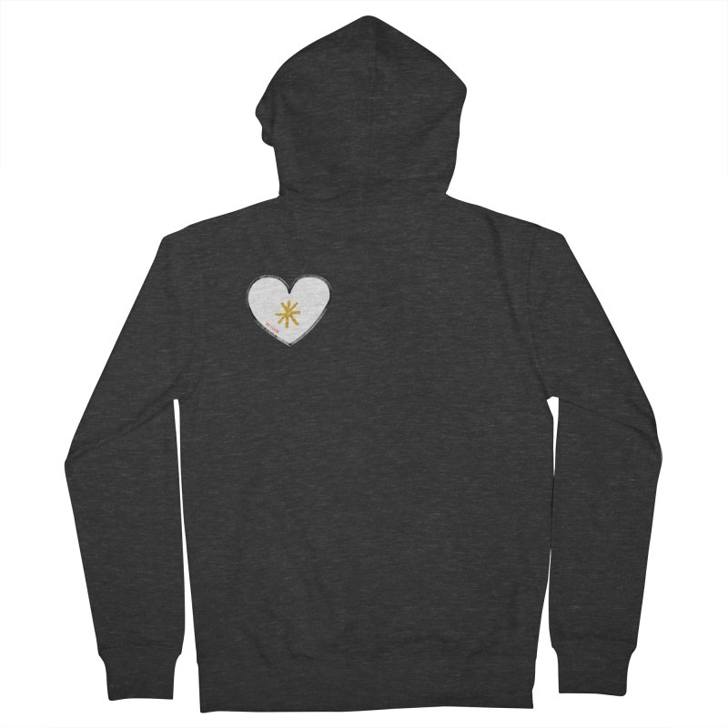 Be Love Women's French Terry Zip-Up Hoody by Doodles Invigorate's Artist Shop