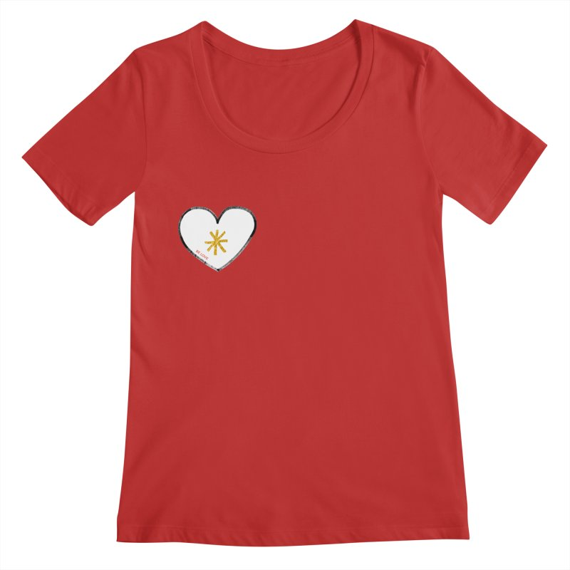 Be Love Women's Regular Scoop Neck by Doodles Invigorate's Artist Shop