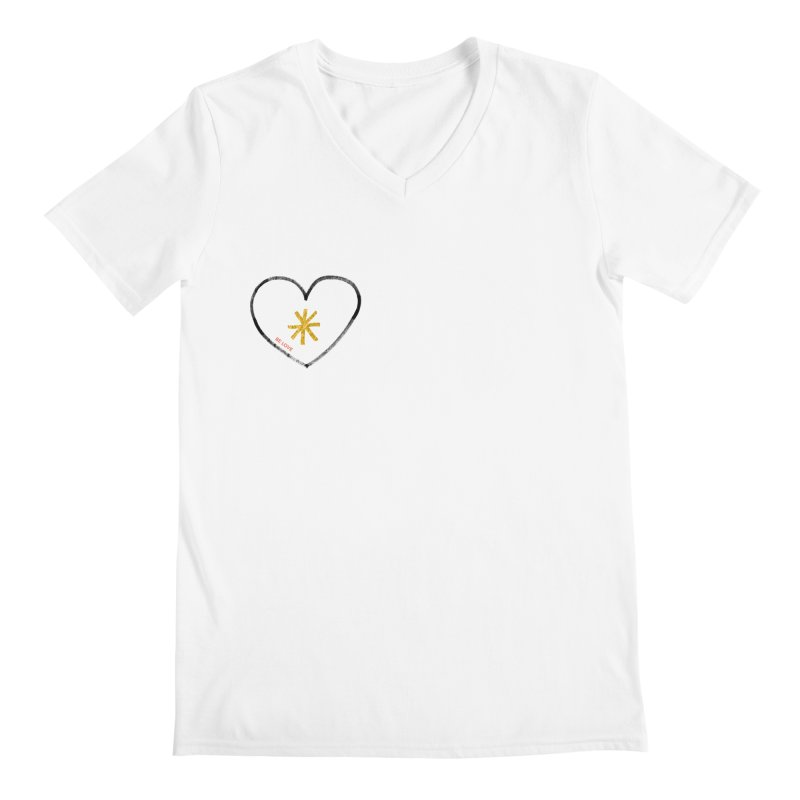 Be Love Men's V-Neck by Doodles Invigorate's Artist Shop