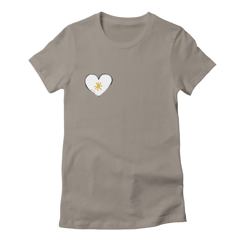 Be Love Women's Fitted T-Shirt by Doodles Invigorate's Artist Shop