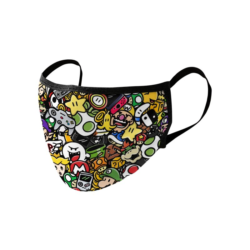 The Super Bunch Accessories Face Mask by DoodleToots Design Shop