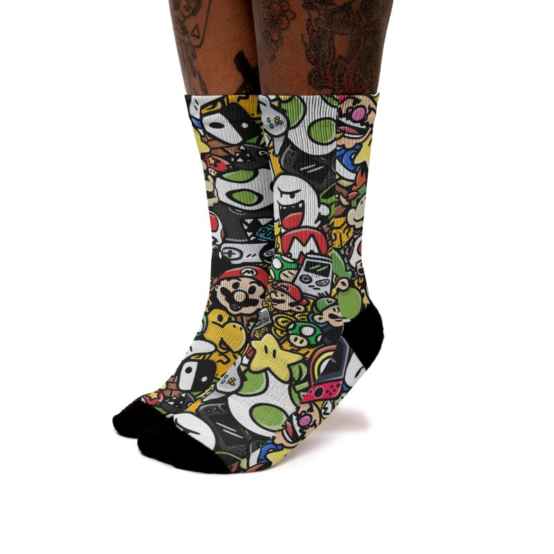 The Super Bunch Women's Socks by DoodleToots Design Shop
