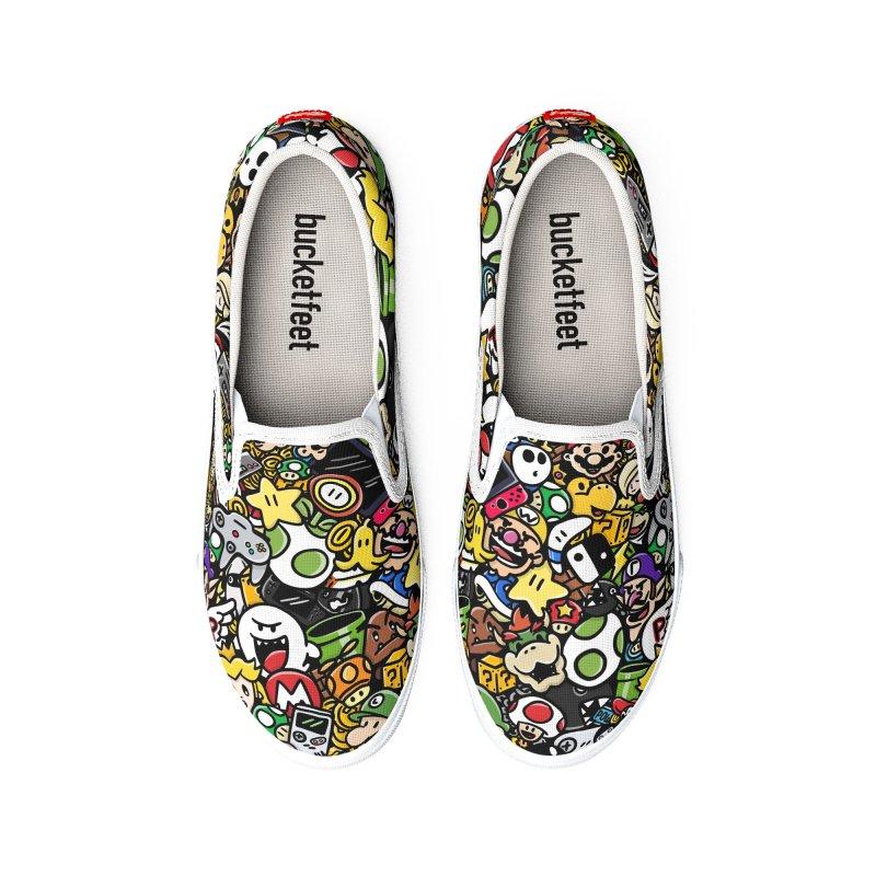 The Super Bunch Men's Shoes by DoodleToots Design Shop
