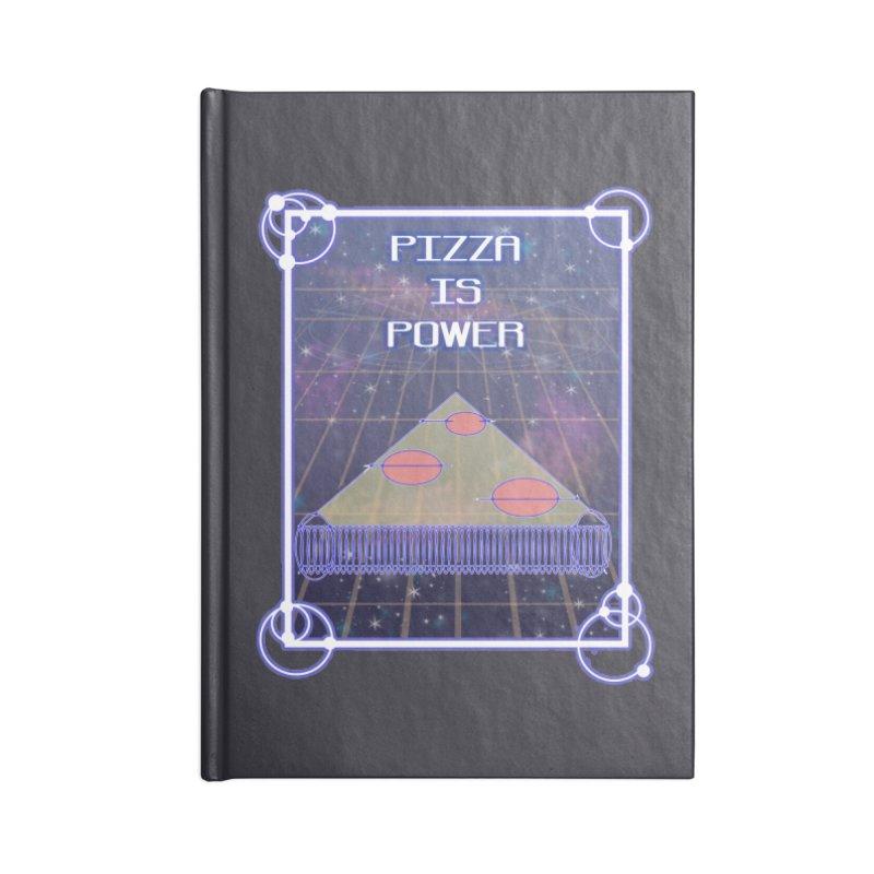 Pizza is Power Accessories Notebook by DoomBotics's Artist Shop