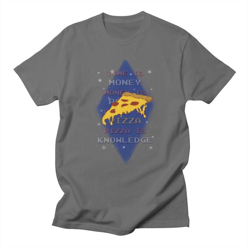 Pizza is Knowledge Men's T-Shirt by DoomBotics's Artist Shop