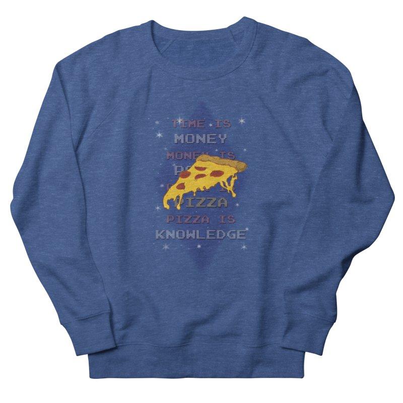 Pizza is Knowledge Men's Sweatshirt by DoomBotics's Artist Shop