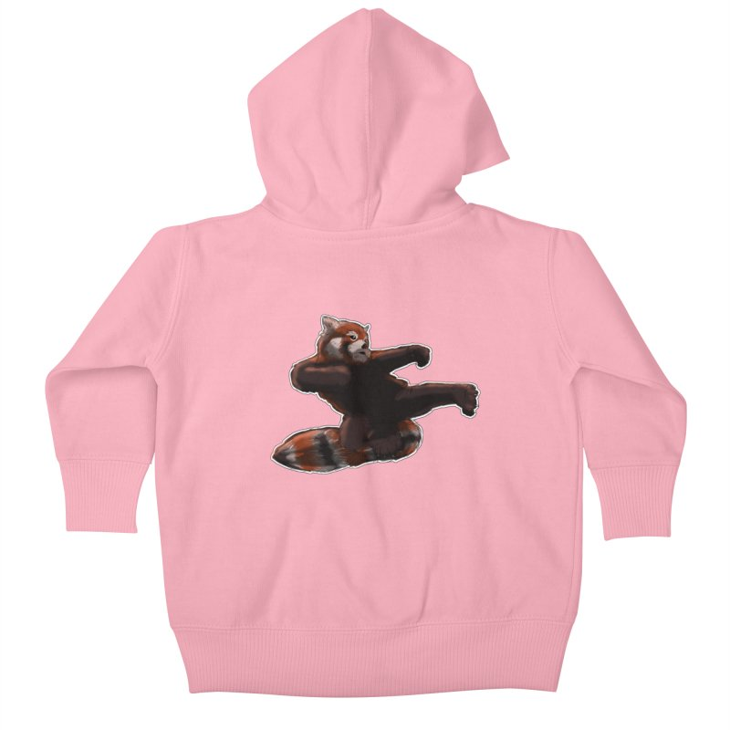 RedPanda Kick Kids Baby Zip-Up Hoody by DoomBotics's Artist Shop