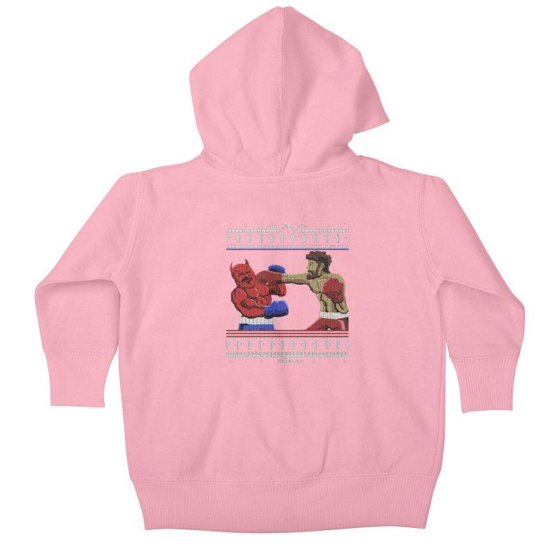 Christmas Sweater Kids Baby Zip-Up Hoody by DoomBotics's Artist Shop