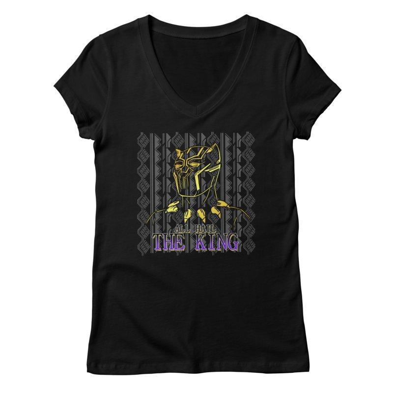 All Hail The King Women's V-Neck by DoomBotics's Artist Shop