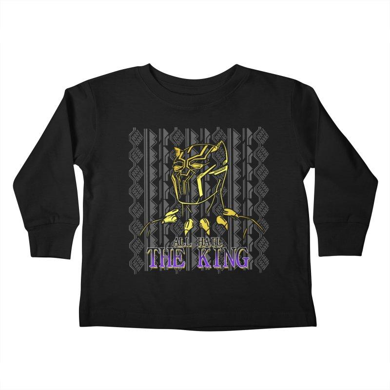 All Hail The King Kids Toddler Longsleeve T-Shirt by DoomBotics's Artist Shop