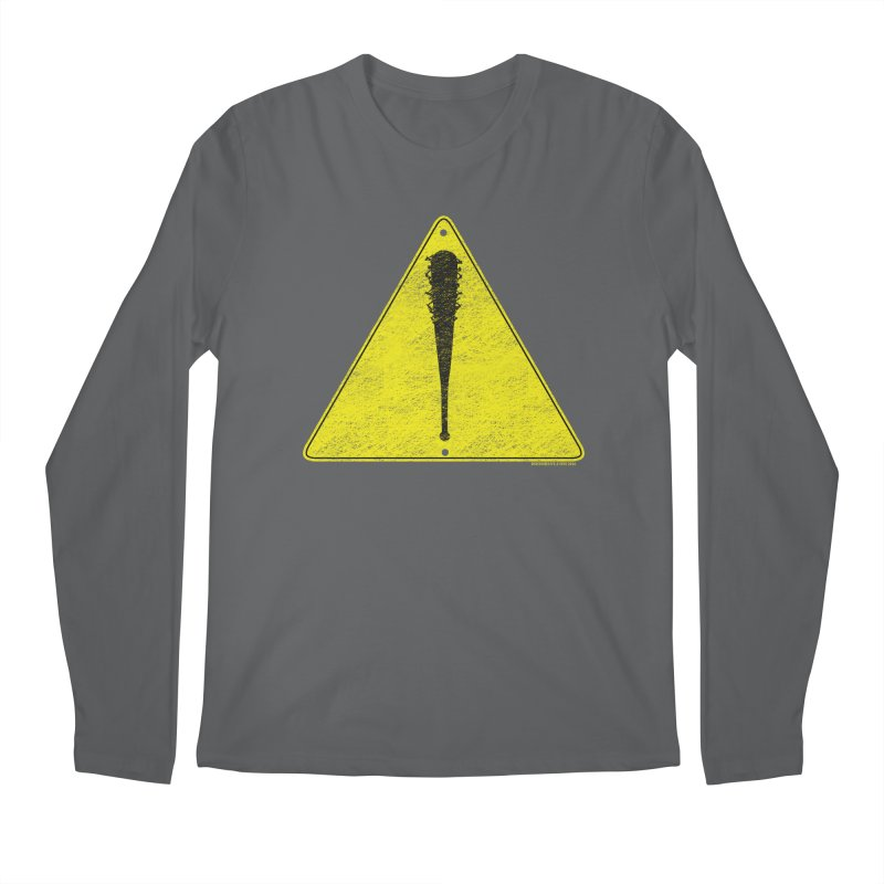 Caution Ahead distressed Men's Longsleeve T-Shirt by doombxny's Artist Shop