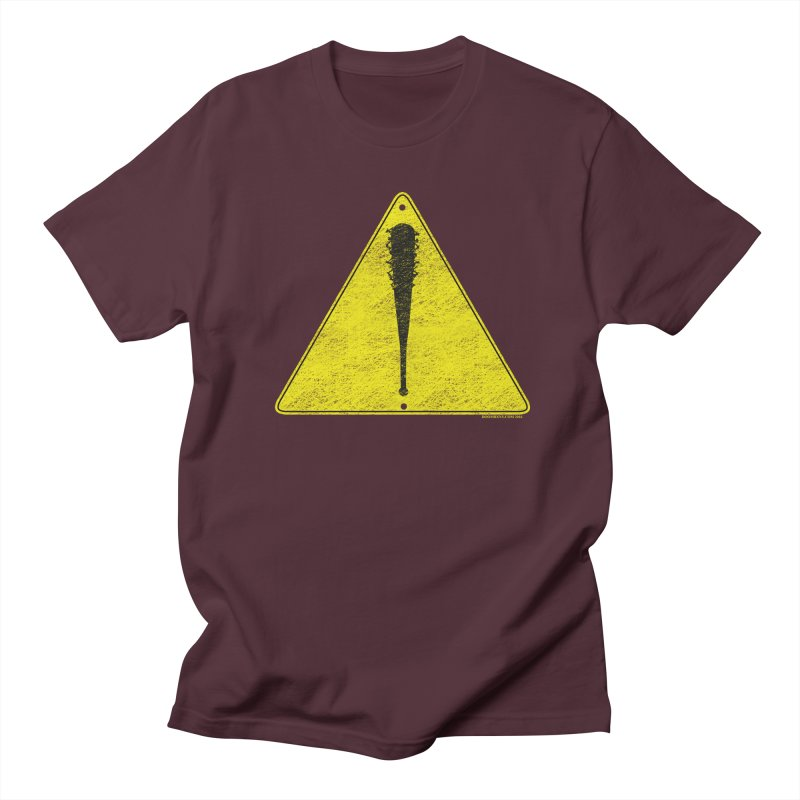 Caution Ahead distressed Men's T-Shirt by doombxny's Artist Shop