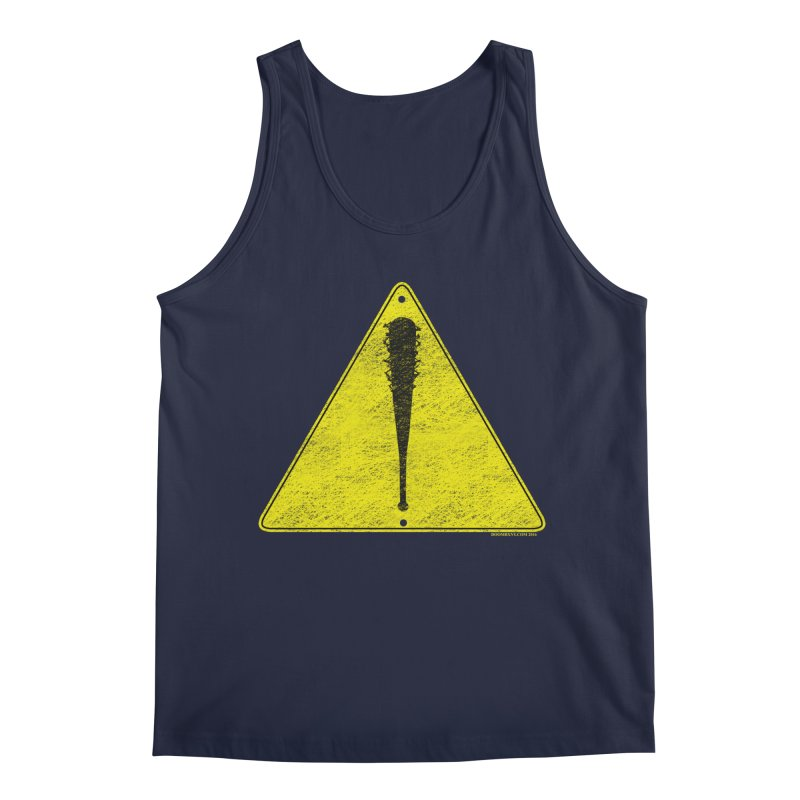 Caution Ahead distressed Men's Tank by doombxny's Artist Shop