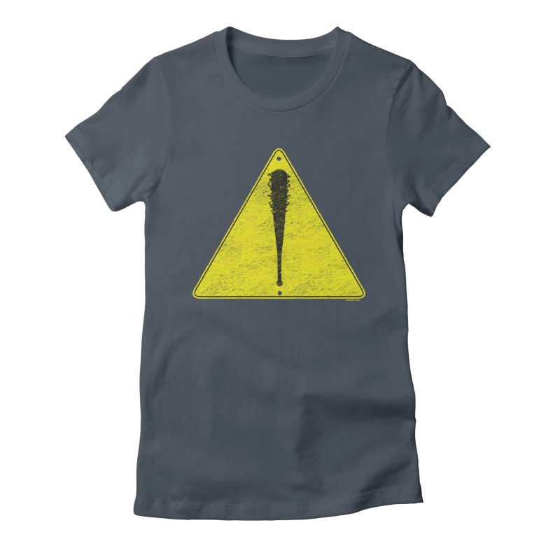 Caution Ahead distressed Women's Fitted T-Shirt by doombxny's Artist Shop