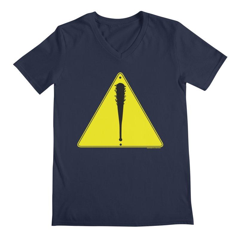Caution Ahead Men's V-Neck by doombxny's Artist Shop