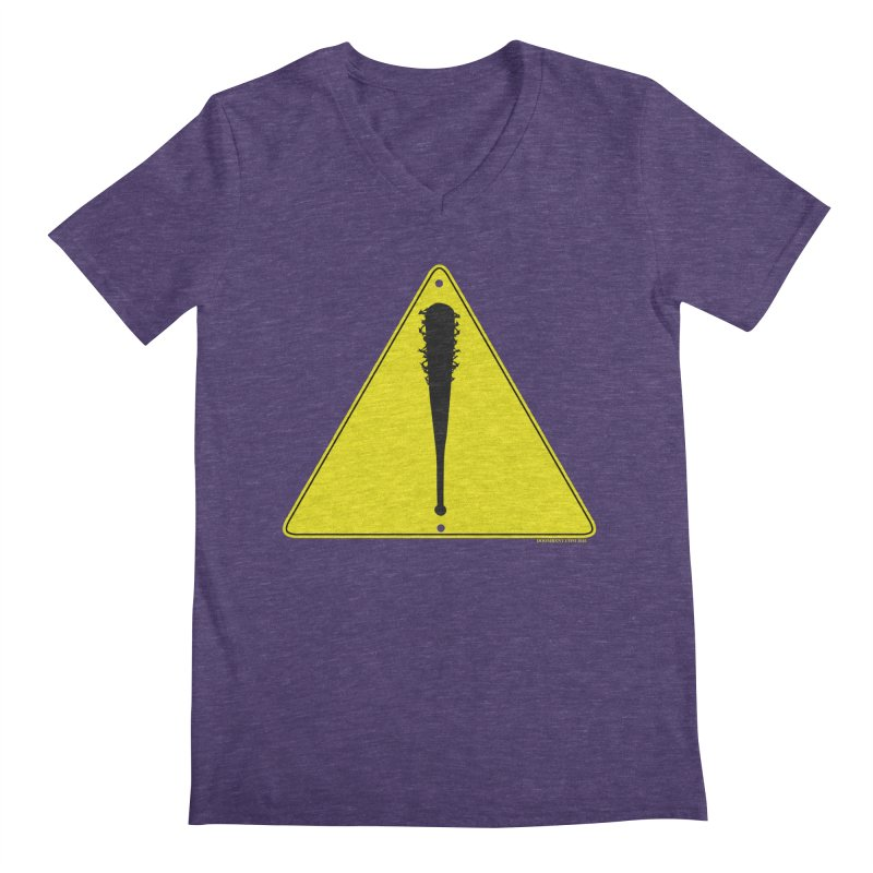 Caution Ahead Men's V-Neck by doombxny's Artist Shop